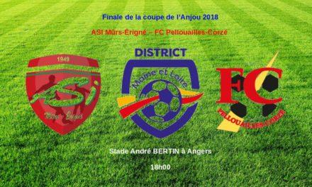 Finale de la coupe de l'Anjou : ASI Mûrs-Erigné – FC Pellouailles-Corzé pour une finale entre amis !