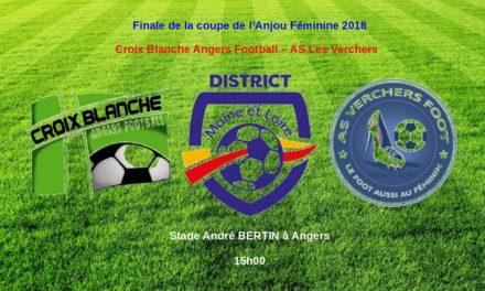 Finale de la coupe de l'Anjou féminine : L'équipe des Verchers Saint-Georges partira favorite face à la Croix Blanche d'Angers (b).