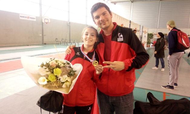 Championnat de France M17 Épée : les filles d'Angers NDC ont touché juste !