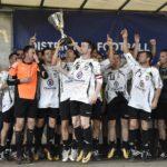 Vainqueurs de l'édition 2018, du Challenge de l'Anjou, les footballeurs d'AJJFC ont été sacrés à domicile, devant un public record. (Photo Lisa Paquereau).