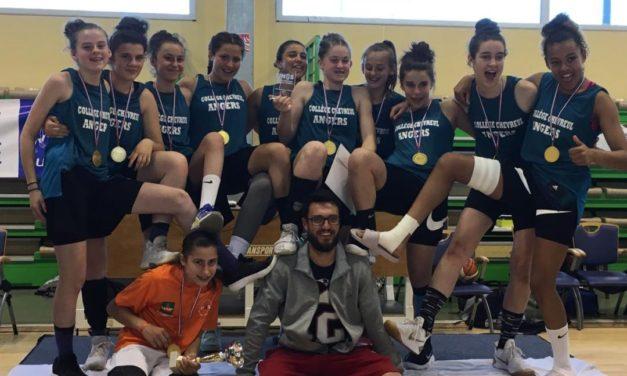Les collégiennes de la Section Sportive Scolaire du collège Chevreul viennent d'être sacrées Championnes de France UNSS 2018.