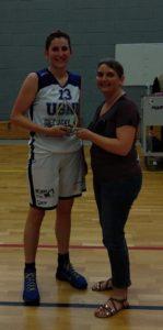 Amélie BLOUIN, joueuse du club de Pomjeannais Basket, élue meilleure joueuse du championnat Pré-Région Féminin