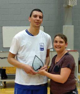 Dimitri NICOLAS, élue meilleur joueur de l'année pour le championnat pré-région masculin