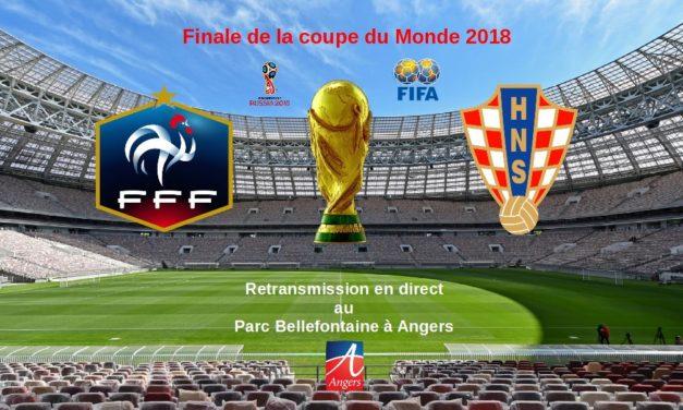 Coupe du Monde de Football : retransmission de la finale sur écran géant le 15 juillet 2018.
