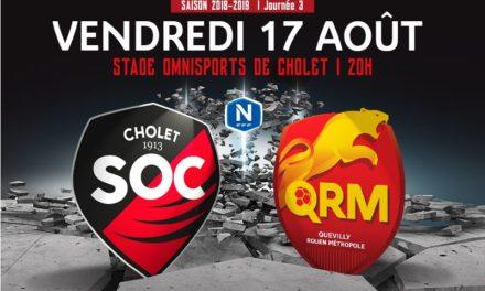National (3e journée) : Le SO Cholet veut décrocher sa première victoire à domicile face à Quevilly-Rouen.