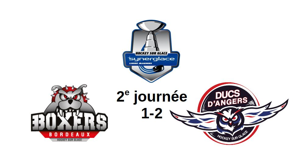 Ligue Magnus (2e journée) : Angers arrache la victoire en toute fin de match à Bordeaux (2-1).