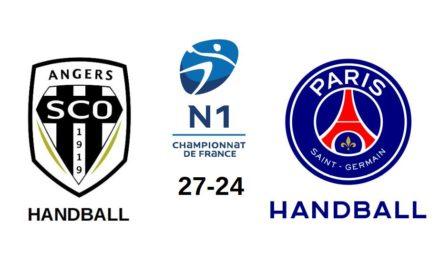 N1M (1ère journée) : Première sortie réussie pour Angers SCO face au PSG Handball (b) (27-24).