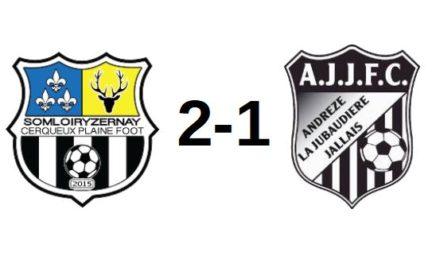 D1 (1ère journée) : Somloiryzernay sort vainqueur du match face à Andrezé-Jub-Jallais (2-1).