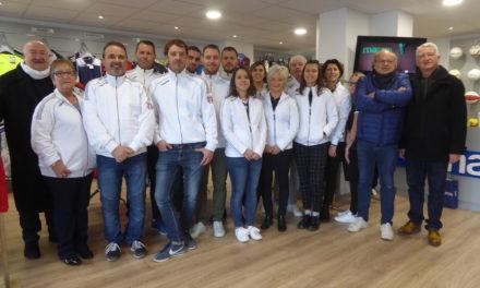 Inauguration du nouveau magasin Orhon Sports / Macron Store à Avrillé.