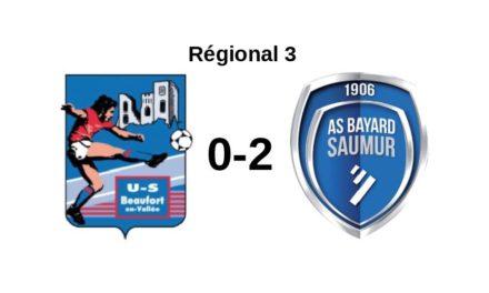 R3 (8e journée) : La Bayard de Saumur fait chuter le leader Beaufortais pour la première fois en championnat (2-0)