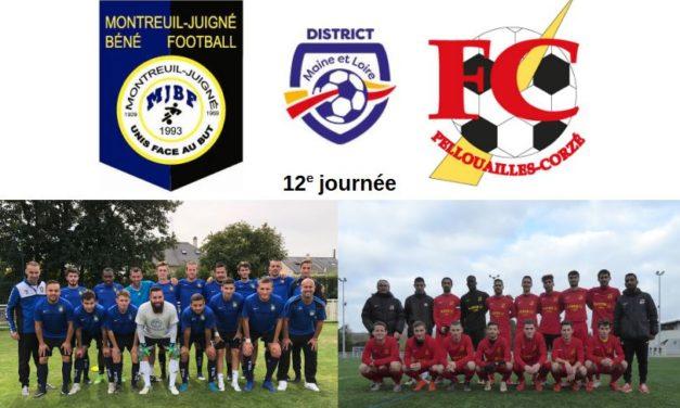 D1 (12e journée) : L'affiche entre Montreuil-Juigné et Pellouailles-Corzé s'annonce prolifique en buts !