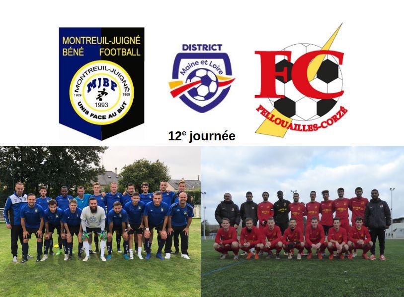 D1 (12e journée) : Match arrêté entre Montreuil-Juigné-Béné et le FC Pellouailles-Corzé…