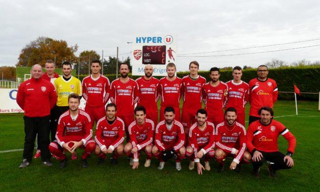 Coupe de l'Anjou (16e de finale) : Mûrs-Érigné ne retiendra que la qualification face à la Possosavennières (3-0).