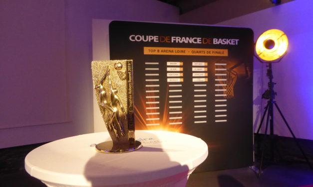 Tirage au sort du Top 8 de basket qui aura lieu à l'Arena Loire de Trélazé.