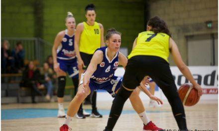 Les joueuses du Saumur Loire Basket 49 en déplacement au Stade Montois, ce samedi.