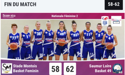 Nouvelle victoire des filles du Saumur Loire Basket 49 au Stade Montois (62-58).