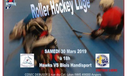 Les Hawks d'Angers de la section Hockey luge sont fiers de pouvoir accueillir leurs homologues Blésois.