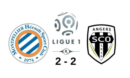 Ligue 1 (28e journée) : Mené 2-0 et à 10, le SCO arrache le match nul à Montpellier (2-2).