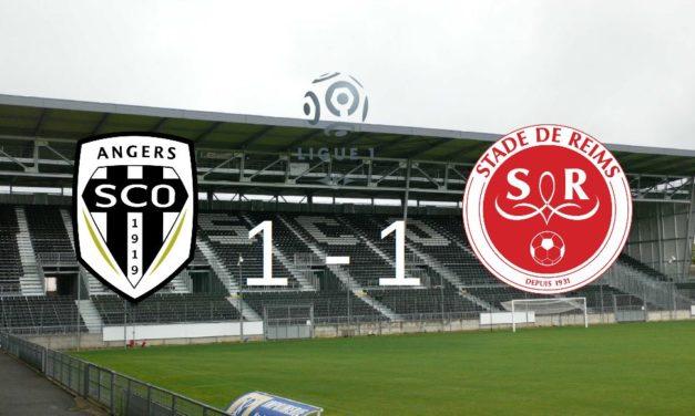 Ligue 1 (34e journée) : Angers SCO concède le match nul à domicile face au Stade de Reims (1-1).