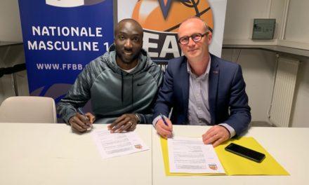 Ibrahim DJAMBO est la première recrue estivale de l'Étoile Angers Basket !