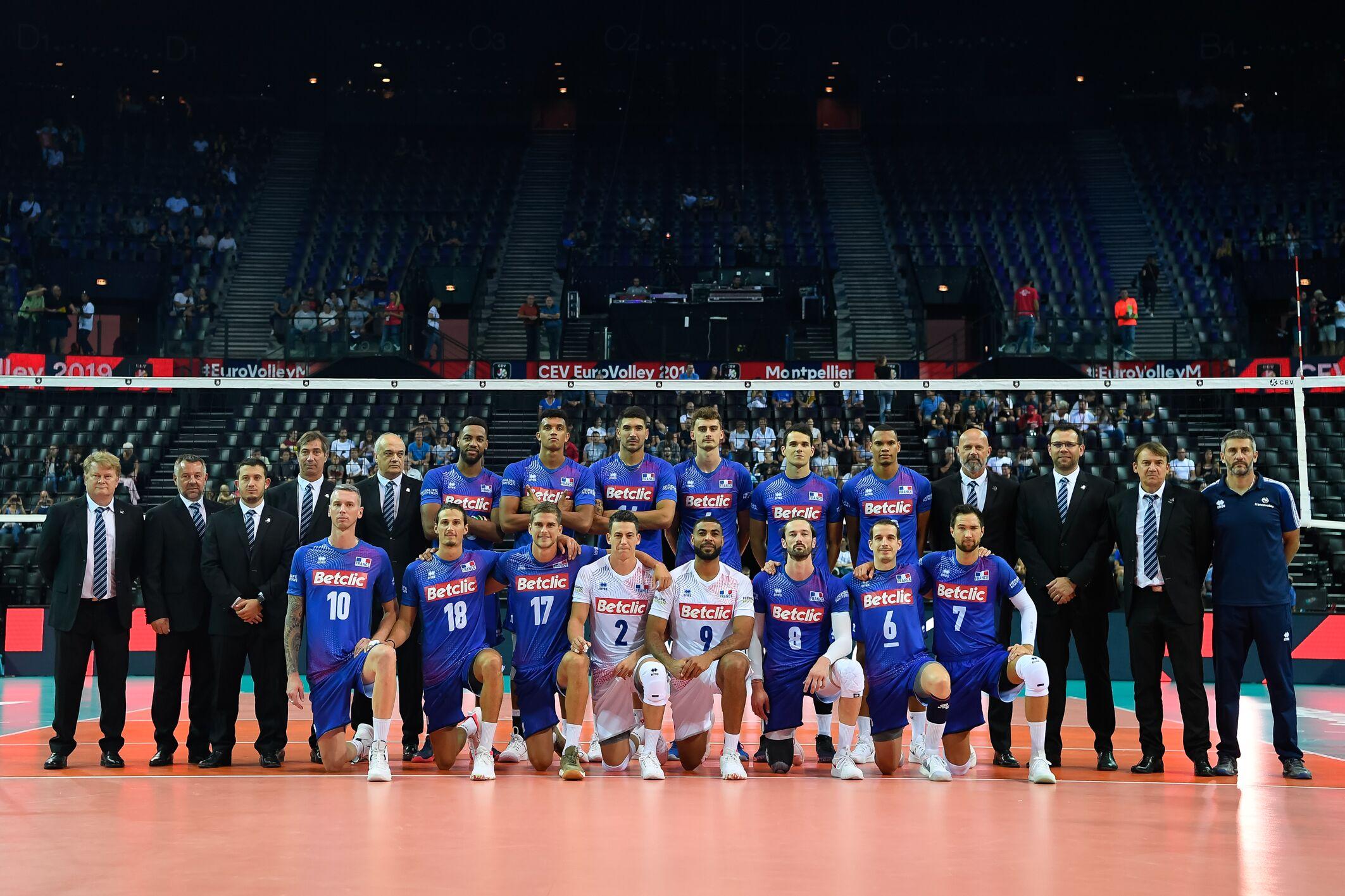 L'équipe de France de Volley.