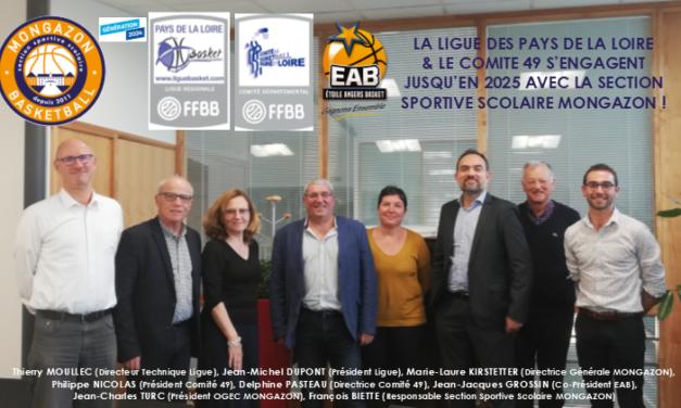 La Ligue des Pays de la Loire de Basket s'engage avec le collège Mongazon.