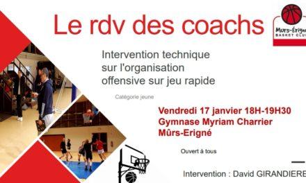 Une intervention technique gratuite et ouverte à tous au Mûrs-Érigné Basket Club.