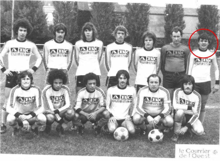 Yannick RIVET au temps de sa carrière de footballeur à l'Entente Frémuroise en 1976.