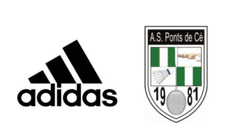 L'ASPC Badminton annonce un nouveau partenariat avec la marque adidas.