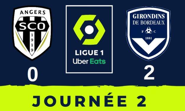 L1 (J2) : En panne d'efficacité, Angers chute à domicile face à Bordeaux (2-0).