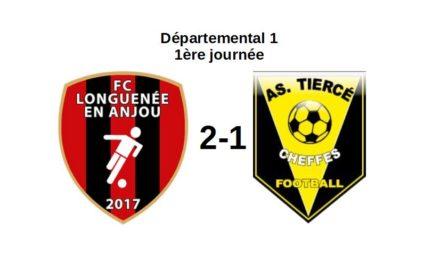 D1 (J1) : Défaite frustrante de Tiercé-Cheffes (b) à Longuenée-en-Anjou (2-1).