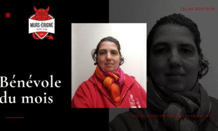 Mûrs-Érigné Basket Club : La bénévole du mois de décembre avec Céline BOUTRON !