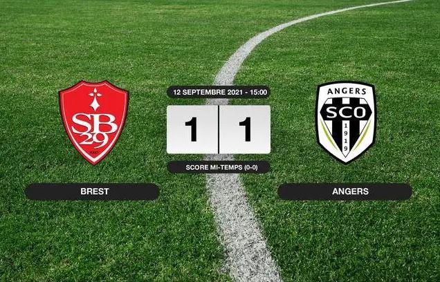 L1 (J5) : Les Angevins obtiennent un bon match nul à Brest (1-1).